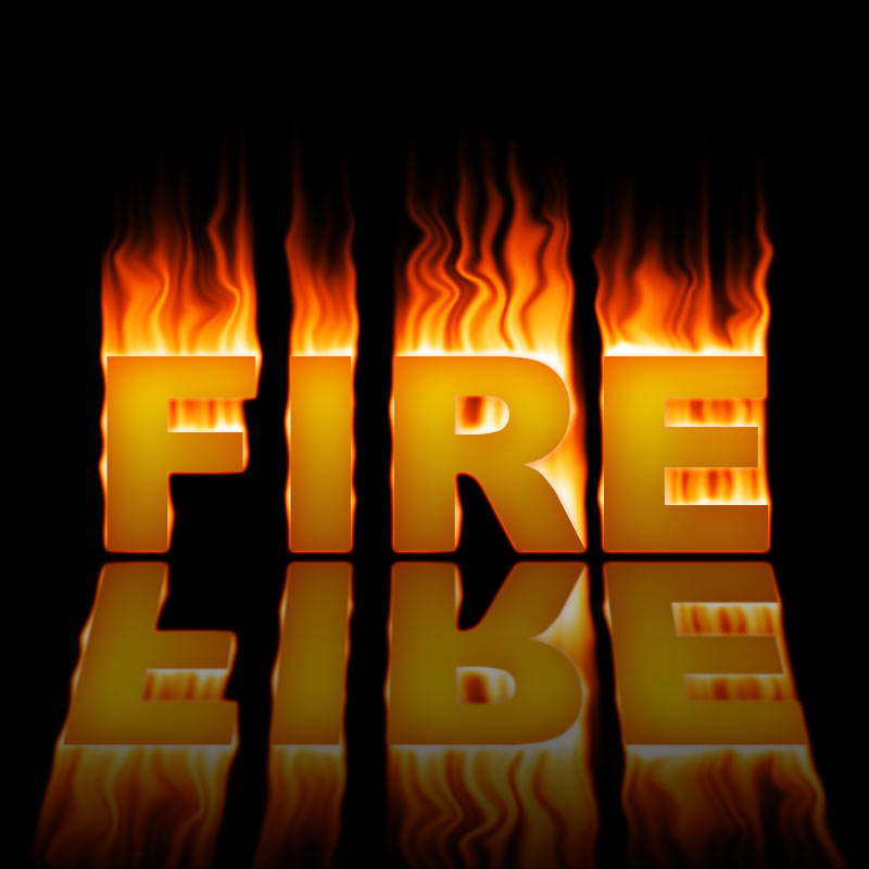Photoshop Tutorial: Text on Fire Effect